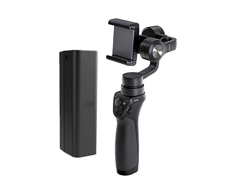 DJI OSMO Mobile Black + Inteligent Battery Part 43 + Adapter