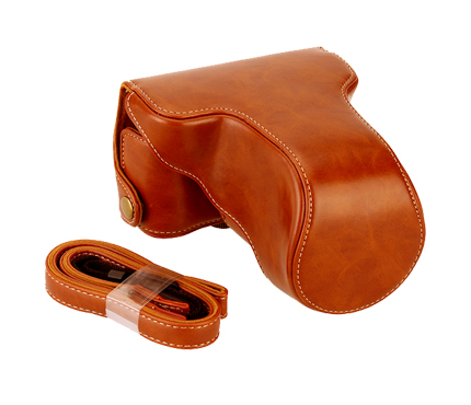 MYER Leather Case For Fuji X-A3 & X-A10 Brown