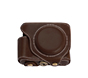 MYER Leather Case for Fuji X70 Coffee with White Line