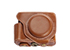 MYER Leather Case for Fuji X70 Brown with White Line