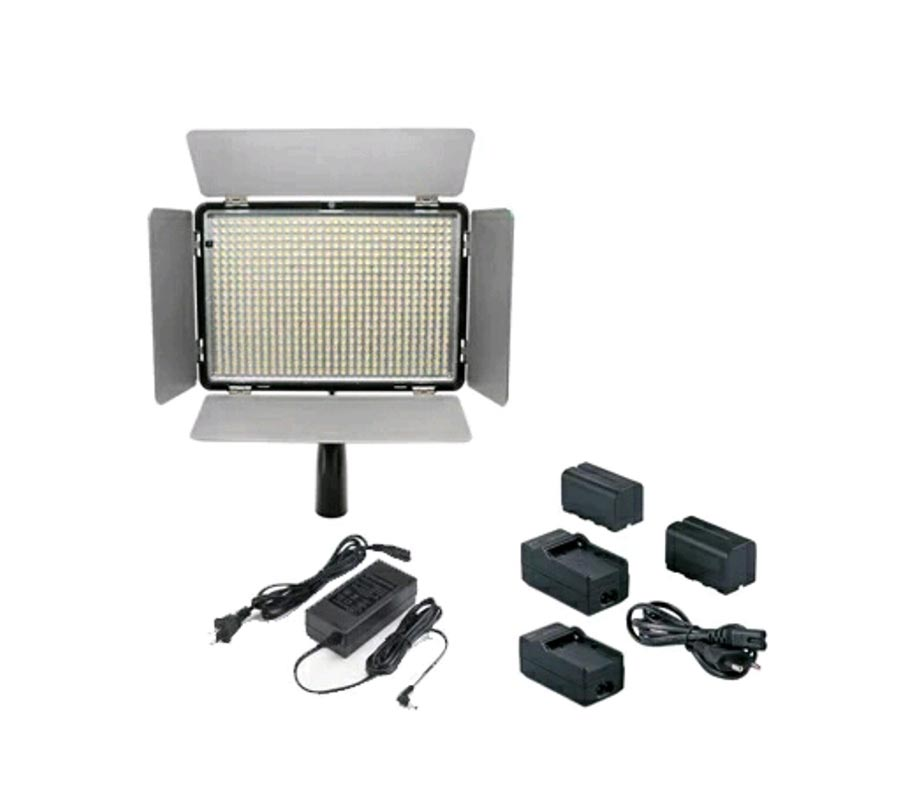 X-Pro LED Video Light KM-600 Free 2 unit NP-F750/F770,Charger,Adapter